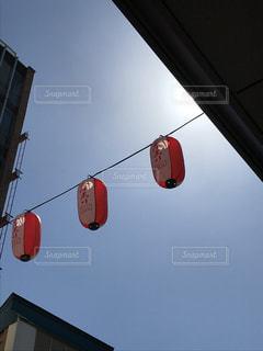 空,屋外,提灯,明るい,祭,日中,フォトジェニック,ぶら下げる