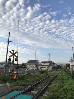 空,屋外,雲,踏切,福島会津