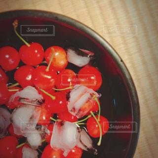 赤,氷,レトロ,フルーツ,果物,さくらんぼ,畳,フィルム,ノスタルジック,チェリー,フィルム写真,フィルムフォト