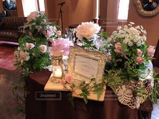 花,屋内,ピンク,装飾,披露宴,桃色,しゃくなげ,ブライダル