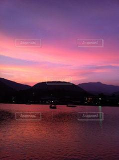 風景,夕暮れ,水面,山,嵐山,渡月橋,大堰川