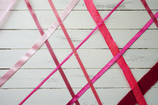 ピンク,リボン,桃色,白バック,フォトジェニック,質感,ベルベット,サテン