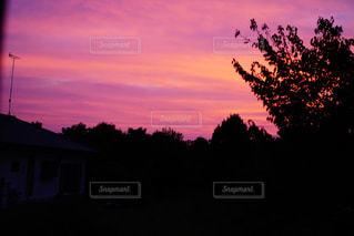 空,夕日,ピンク,夕焼け,ロマンチック,晩夏