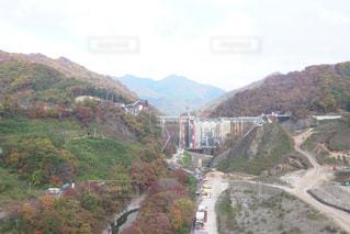 八ッ場ダム工事中の写真・画像素材[1614703]