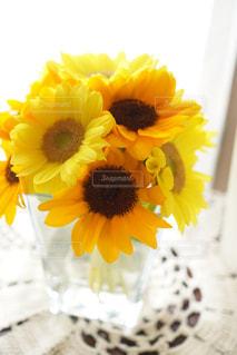 夏,ひまわり,黄色,向日葵,ブーケ,生花