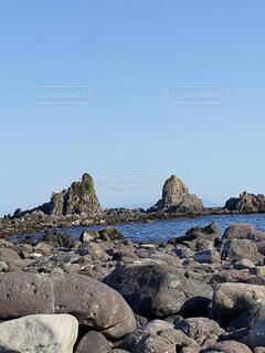 自然,風景,海,空,屋外,ビーチ,水面,山,岩