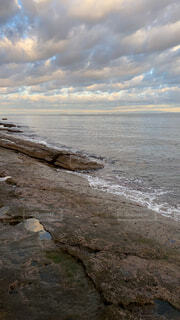 自然,風景,海,空,屋外,雲,水面,海岸,山,岩