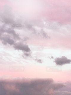 空,屋外,ピンク,雲,夕焼け