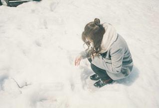 雪に出会った。の写真・画像素材[1732162]