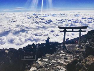 はじめての富士山頂の写真・画像素材[1431839]
