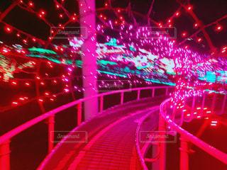 公園,夜,ピンク,綺麗,ネオン,イルミネーション,滑り台,デート,桃色,pink