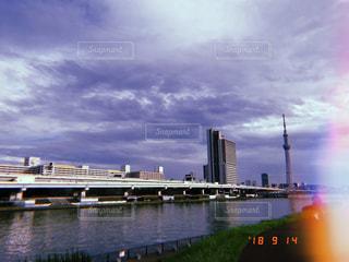 風景,空,雲,隅田川,秋空