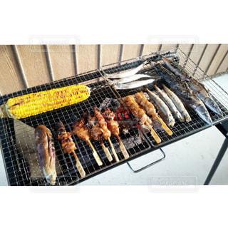 秋,焼き魚,バーベキュー,焼き鳥,食,さんま,秋刀魚,秋の味覚,食欲の秋,焼きとうもろこし,焼き茄子
