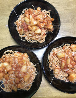 食べ物,秋,トマト,夕食,イタリアン,ナポリタン,手料理,食,スパゲティ,食欲,男の料理,じゃがいも,メン,三人前