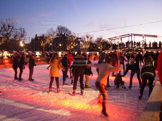 アムステルダムのスケート場の写真・画像素材[1805410]