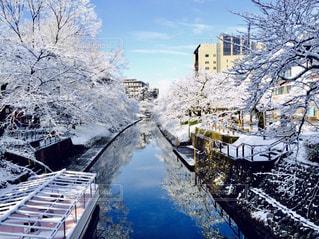 空,冬,雪,白,青,船,川,富山県,ホワイト,松川