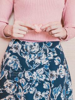 ファッション,風景,ピンク,青,ドレス,ハート,スカート,洋服,人物,人,マカロン,ブラウス