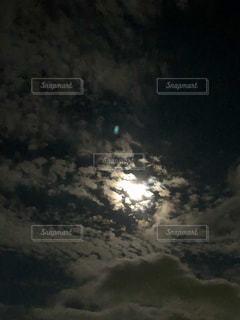 夜空,雲,秋の空,月あかり