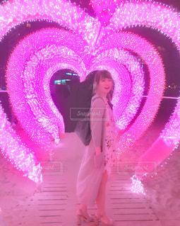 ピンク,イルミネーション,ハート,韓国,ピンク色,heart,桃色,釜山,pink,海雲台
