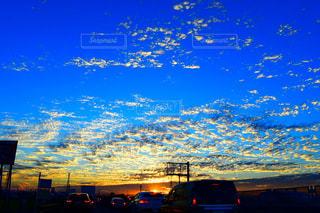 空,秋,雲,夕陽,秋空,秋の空,いわし雲
