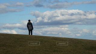 男性,風景,屋外,草原,雲,景色,男子,旅行,淡路島,兵庫,レジャー・趣味