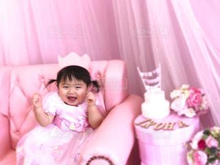 ドレス,シャボン玉,ブーケ,ソファ,ピンク色,お姫様,スタジオ