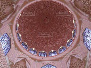 ピンク,癒し,天井,マレーシア,モスク,お祈り,ピンクモスク