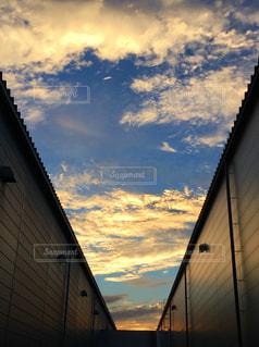 風景,空,雲,工場,夕景,夕焼け雲,秋空