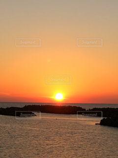 風景,海,空,夕日,夕焼け,日本海,秋空