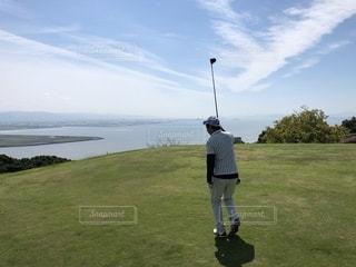 海,空,スポーツ,楽しい,ゴルフ,のんびり