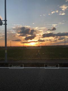 空,秋,夕日,雲,秋空