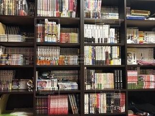 本棚は本でいっぱいの写真・画像素材[1559678]