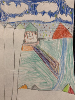 カラフル,ペン,お絵描き,色鉛筆,紙,おえかき,お絵かき,おうち時間