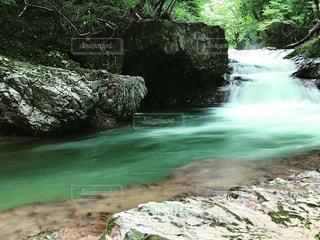 岩の横にある水します。の写真・画像素材[1452472]