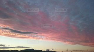 空,ピンク,夕焼け,ピンク色,桃色,pink