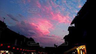 空,ピンク,夕焼け,長野,ピンク色,桃色,善光寺,pink