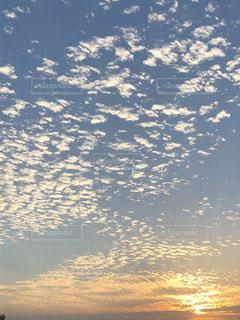 癒し,うろこ雲,夕やけ,秋の空