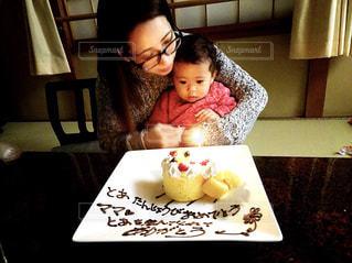 1歳誕生日お祝いの写真・画像素材[1667631]