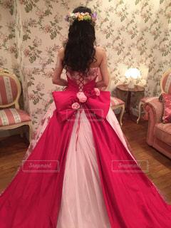 ピンクドレスの写真・画像素材[1791311]