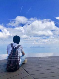 琵琶湖を眺めながら何を想う。。の写真・画像素材[1446275]