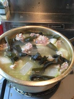 食べ物,スープ,料理,美味しい,ソーキ,食欲の秋,汁物,昆布,冬瓜,ソーキ汁