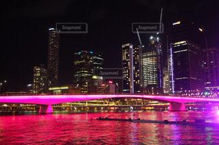 橋,夜景,ピンク,pink