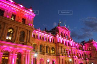 建物,夜景,ピンク,ライトアップ,ブリスベン,pink