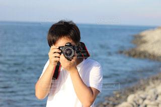 カメラ男子の写真・画像素材[1830359]