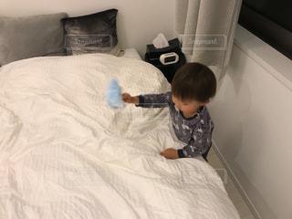 子供,掃除,ベッド,ハンディワイパー