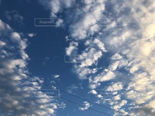 空,雲,電線,秋空