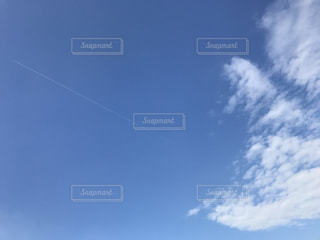 秋,屋外,雲,晴れ,飛行機雲,秋空,日中