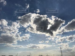 空,秋,雲,晴れ,青空,外,秋空,日中