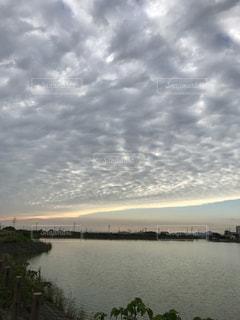 秋,屋外,雲,夕暮れ,景色,外,秋空