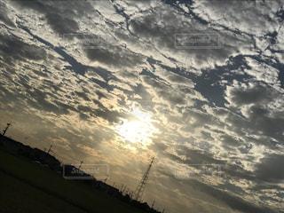秋,屋外,雲,夕暮れ,景色,秋空